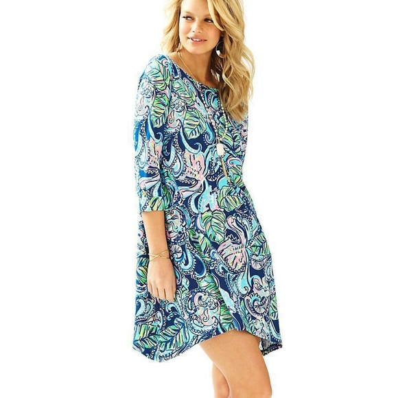 Lilly Pulitzer Dresses & Skirts - Hanging with the fronds cotton dress small Hangin